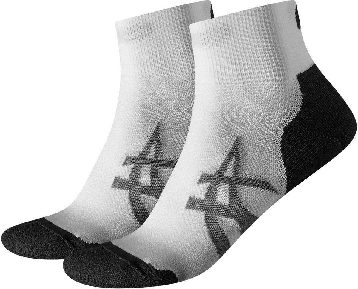 Asics 2PPK CUSHIONING SOCK skarpetki do biegania (biało czarny)