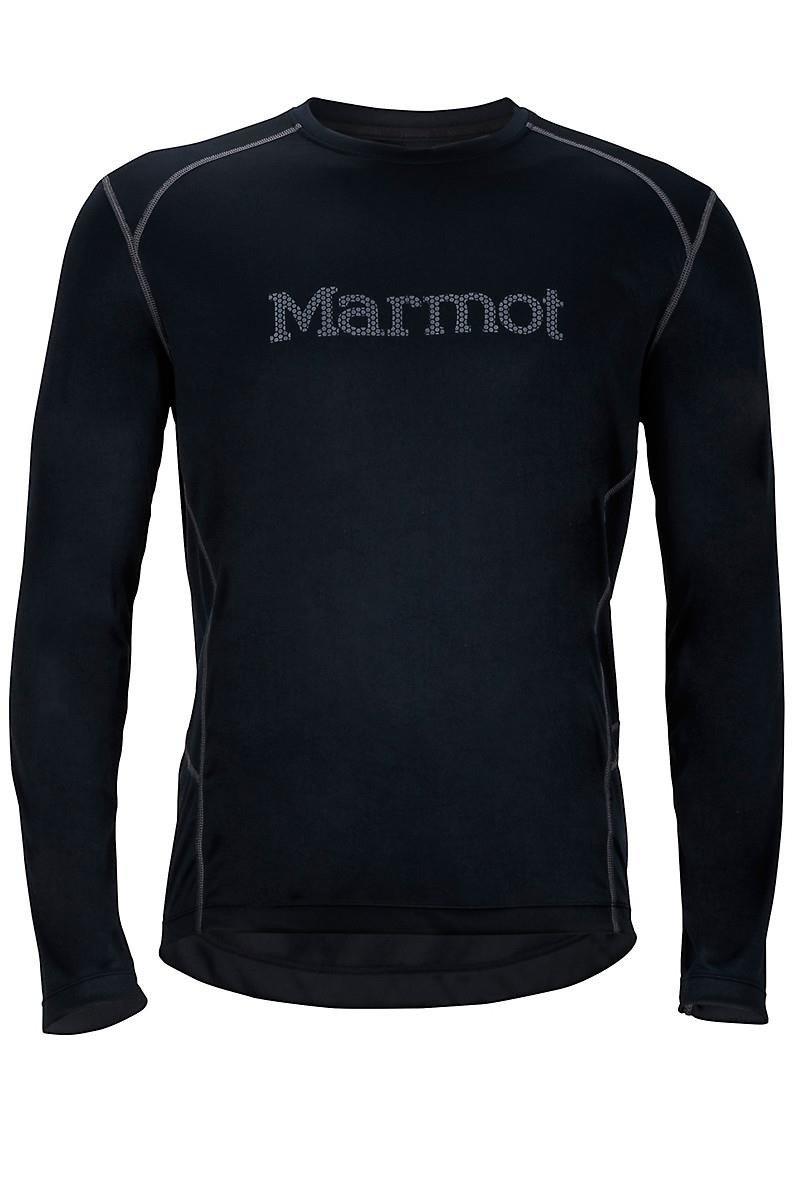dcbca52dda66b7 Marmot Windridge with Graphic LS - koszulka biegowa męska (czarny)