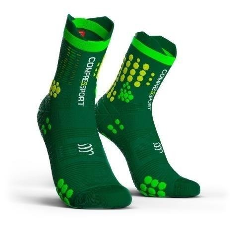 Compressport ProRacing Socks V3 - skarpetki trailowe do biegania (zielony)